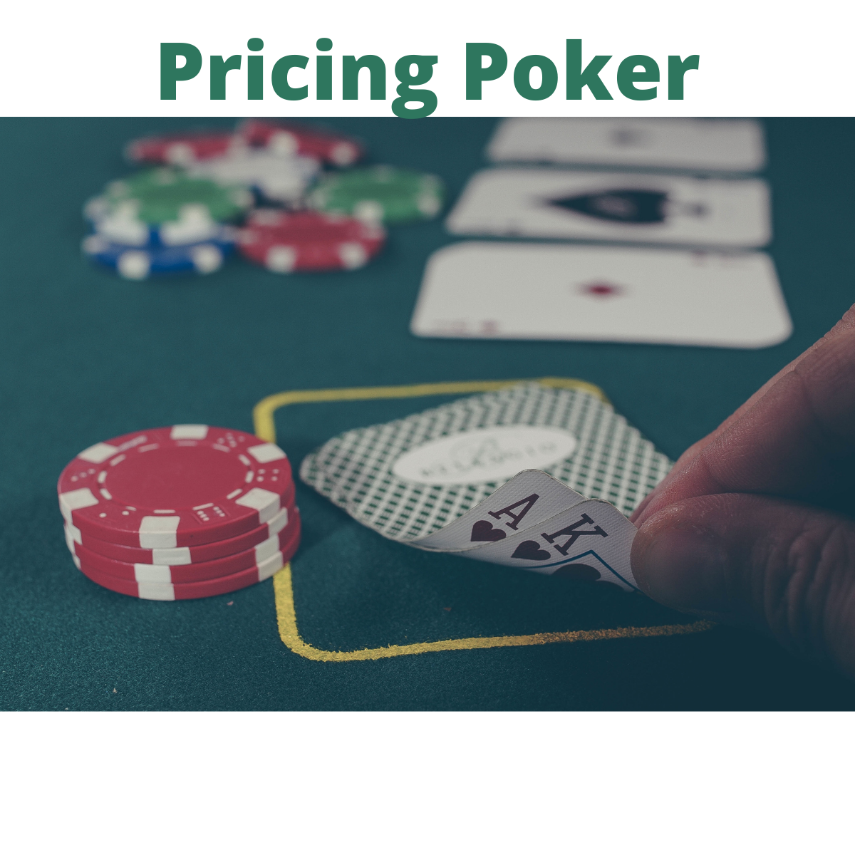 A person plays poker in a casino